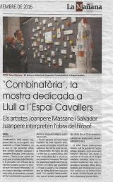 """""""Combinatòria"""", la mostra dedicada a Llull a l'Espai Cavallers"""